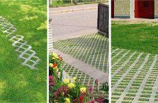 Plastični travniški tlakovci, rešetke za tlakovanje dovozov, parkirišč, postajališč, poti, brežin.